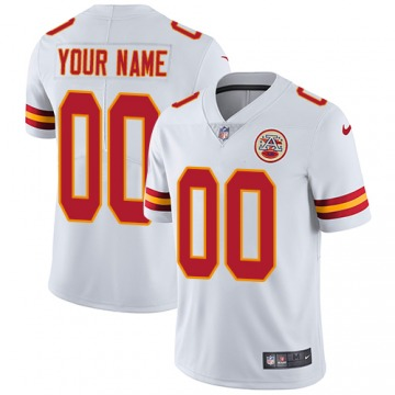 Men's Custom Kansas City Chiefs Limited White Jersey