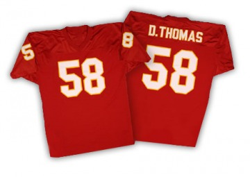 Men's Derrick Thomas Kansas City Chiefs Authentic Red Mitchell And Ness Throwback Jersey