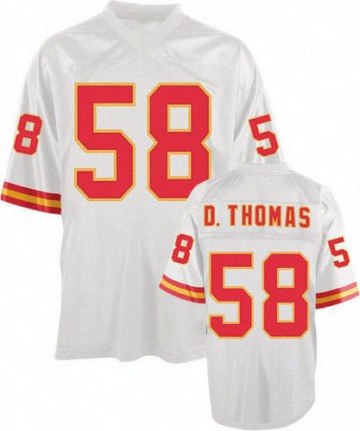 Men's Derrick Thomas Kansas City Chiefs Authentic White Mitchell And Ness Throwback Jersey