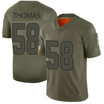 Men's Derrick Thomas Kansas City Chiefs Limited Camo 2019 Salute to Service Jersey