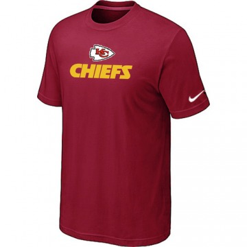 Men's Kansas City Chiefs Authentic Red Logo T-Shirt -