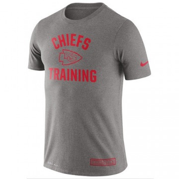Men's Kansas City Chiefs Gray Heathered Training Performance T-Shirt