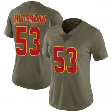 Women's Anthony Hitchens Kansas City Chiefs Limited Green 2017 Salute to Service Jersey