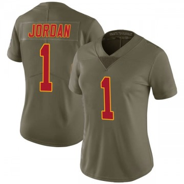 Women's Jamire Jordan Kansas City Chiefs Limited Green 2017 Salute to Service Jersey