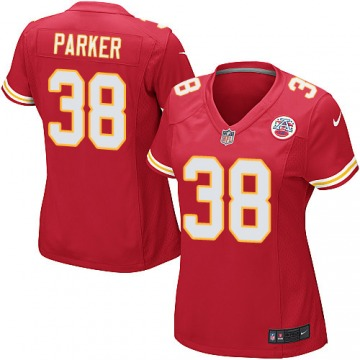 Women's Ron Parker Kansas City Chiefs Game Red Team Color Jersey