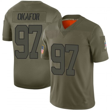 Youth Alex Okafor Kansas City Chiefs Limited Camo 2019 Salute to Service Jersey